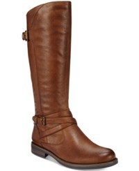 Bare Traps Corrie Wide Calf Riding Boots Women's Shoes Brush Brown