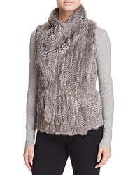 Bloomingdale's C By Fur Front Cashmere Vest Natural Grey
