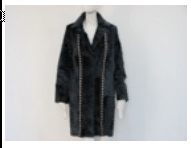 Helen Yarmak Baby Lamb Coat With Notched Collar. Detachable Front Part. Hy Exclusive 100 Silk Lining. Fur Origin China Black