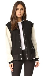 Rag And Bone Edith Varsity Jacket Black