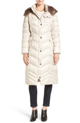 Laundry By Design Women's Quilted Coat With Faux Fur Lined Hood