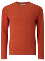 John Lewis And Co. Cotton Silk Cashmere Moss Jumper Orange
