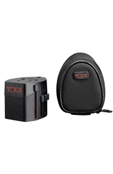 Tumi Electric Adaptor With Ballistic Nylon Case Black