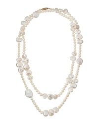Belpearl Freshwater Baroque Pearl Rope Necklace