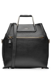 Steffen Schraut Leather Boxy Bag Black