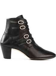Repetto Buckled Ankle Boots Black