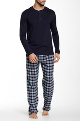 Majestic Knit Top And Fleece Pant Two Piece Set Multi