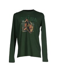Cooperativa Pescatori Posillipo Topwear T Shirts Men Emerald Green