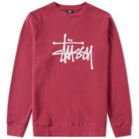 Stussy Chain Stitch Applique Crew Sweat Purple