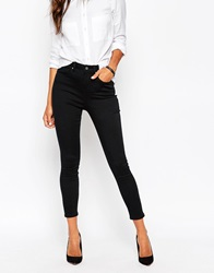 Asos Ankle Grazer Stretch Skinny Trousers Black