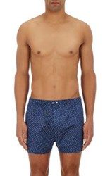 Barneys New York Men's Paisley Cotton Boxers Navy Red Blue Navy Red Blue