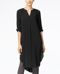 Cable And Gauge Tunic Shirt Black