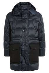 Ami Alexandre Mattiussi Quilted Parka With Hood Blue
