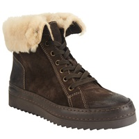 John Lewis Ellery Fold Over Upper Cleated Sole Trainers Brown Suede