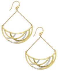 Sis By Simone I Smith 'Forever Shaunie' 18K Gold Over Sterling Silver Earrings Crystal Crescent Drop Earrings