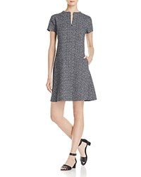 Theory Apalia Tweed Dress Black White
