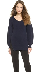 Philosophy Long Sleeve Sweater Navy