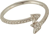 Finn Women's Diamond Arrow Ring Colorless