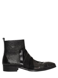 Jo Ghost 25Mm Python And Leather Ankle Boots