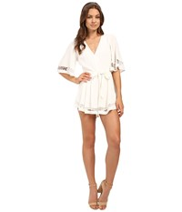 Lovers Friends Serafina Romper Ivory Women's Jumpsuit And Rompers One Piece White