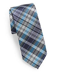 Original Penguin Anton Plaid Tie Blue