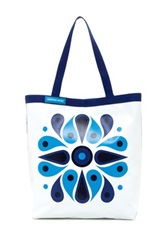 Jonathan Adler Talulla Double Sided Large Tote Blue