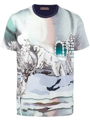 Etro Bear Print T Shirt Multicolour