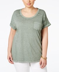 Styleandco. Style And Co. Plus Size Pocket T Shirt Olive Sprig