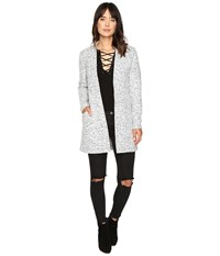 Only Monday Wool Coatigan Light Grey Melange Women's Coat Gray