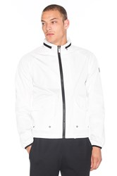 Native Youth Tech Fabric Harrington Jacket White