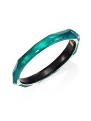 Alexis Bittar Skinny Faceted Lucite Bangle Bracelet Green