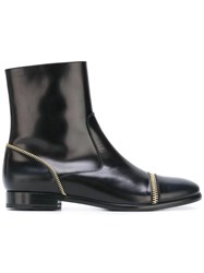 Fratelli Rossetti Zip Detailed Ankle Boots Black