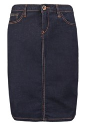 Morgan Japog Denim Skirt Jean Brut Blue Denim