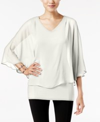 Joseph A V Neck Cape Top Ivory