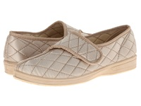 Foamtreads Jewell Champagne Satin Women's Slippers Beige