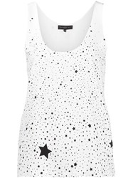 Barbara Bui Star Print Tank Top White