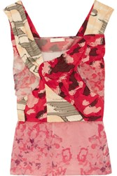 Michael Van Der Ham Lily Floral Print Organza And Fil Coupe Top Multi