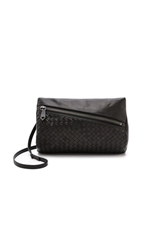 Christopher Kon Woven Cross Body Bag Black
