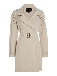 Andrew Marc New York Brooke Trench Coat With Hood White