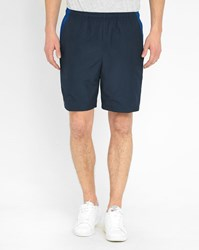 Blue And Blue Striped Lacoste Sport Polyester Shorts