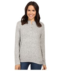 Project Social T Off Duty Henley Heather Grey Women's Clothing Gray