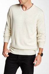Robert Graham Nolan V Neck Sweater Yellow