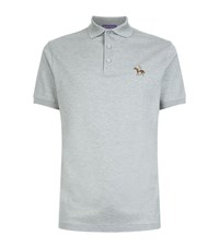 Ralph Lauren Embroidered Horse Polo Shirt Male Dark Grey