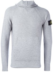 Stone Island Welt Finishing Hooded Sweatshirt Grey