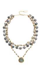 Ela Rae Multi Choker Necklace Pyrite Mystic Black Spinel Lab
