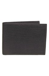 Boconi Leather Id Wallet Brown Brown Khaki