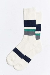 Urban Outfitters Colorblocked Sock Cream