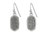 Kendra Scott Lee Earring Rhodium Platinum Drusy Earring Silver