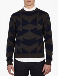 Saturdays Surf Nyc Mirror Patterned Cotton Sweater