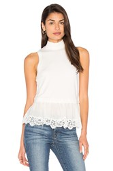 Rebecca Taylor Terry Lace Top Ivory